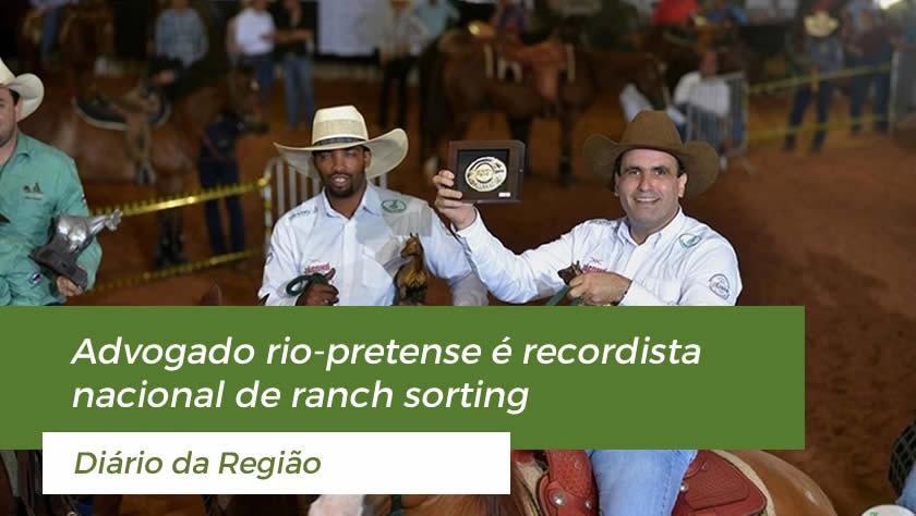 Advogado rio-pretense é recordista nacional de ranch sorting